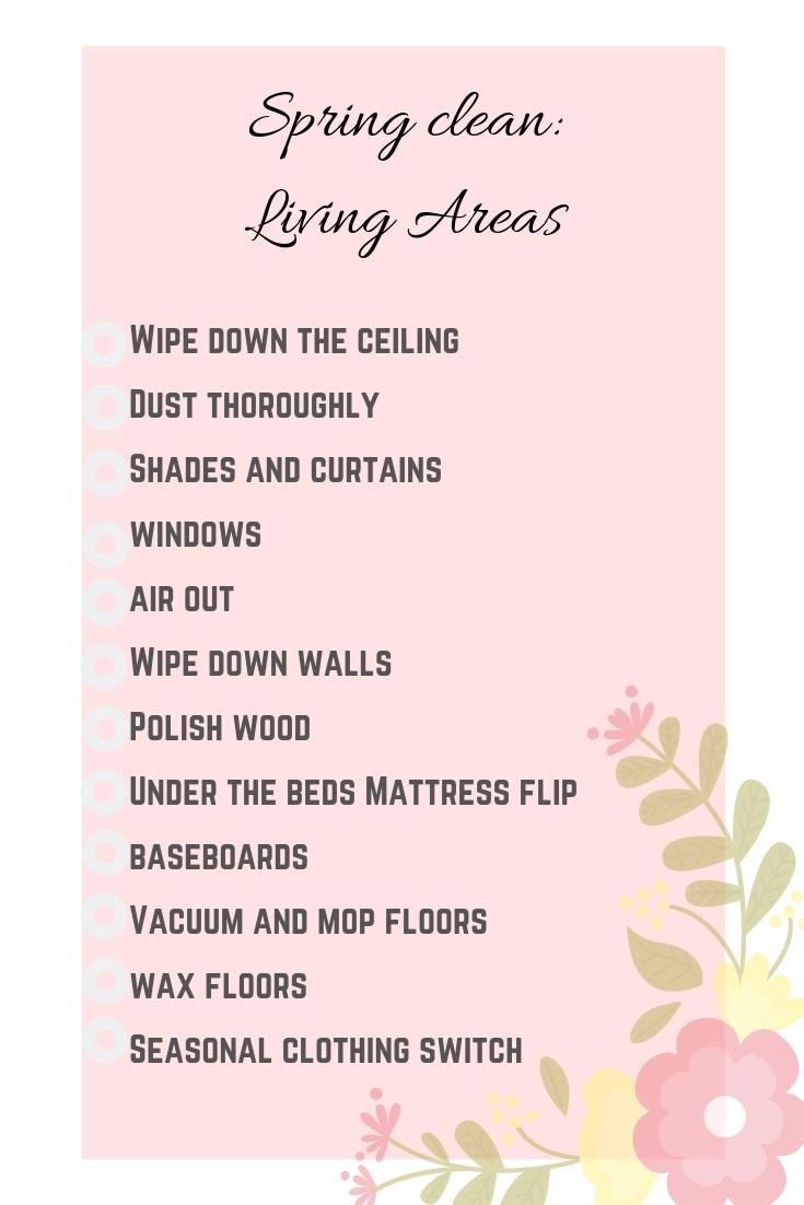 Spring clean upstairs