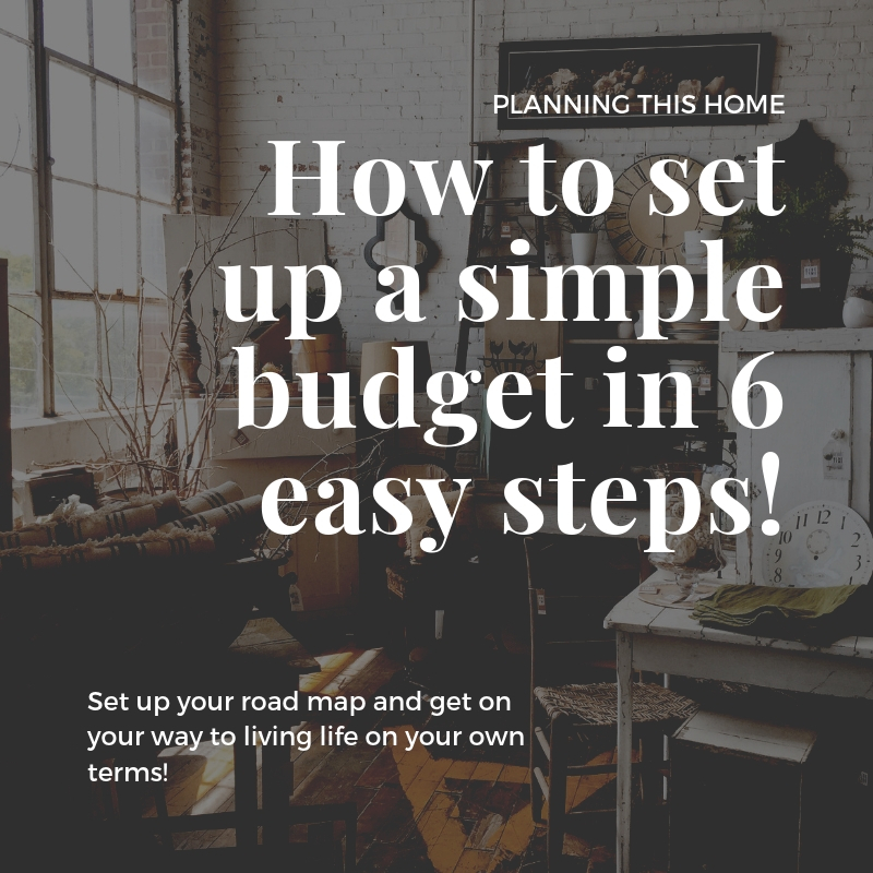 How to set up a simple budget in 6 easy steps!