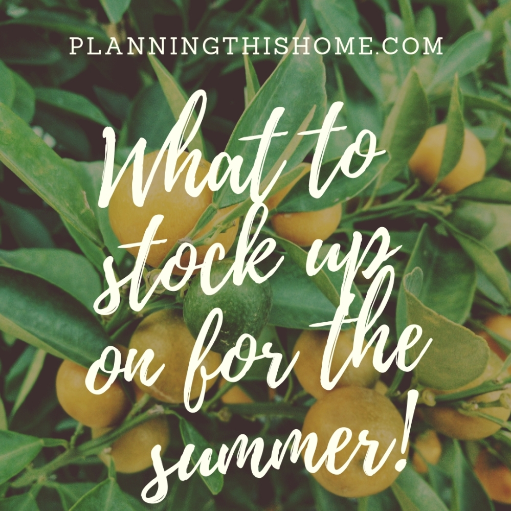 summer stock up tips