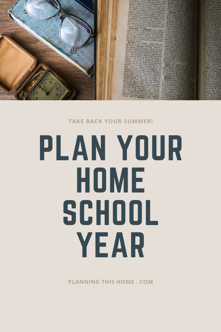 Home school plan