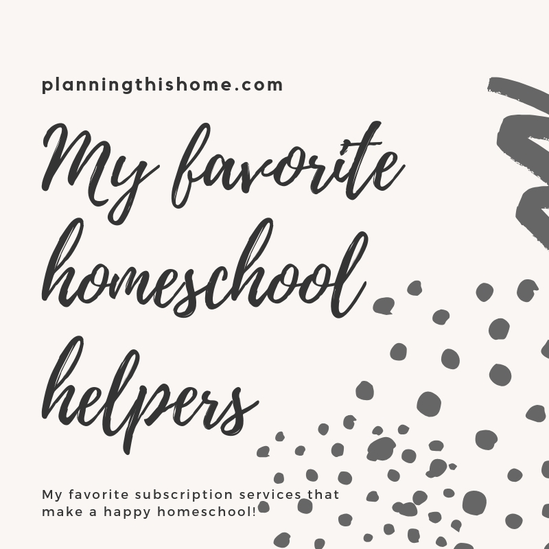 My favorite subscription services for Homeschool. (1)