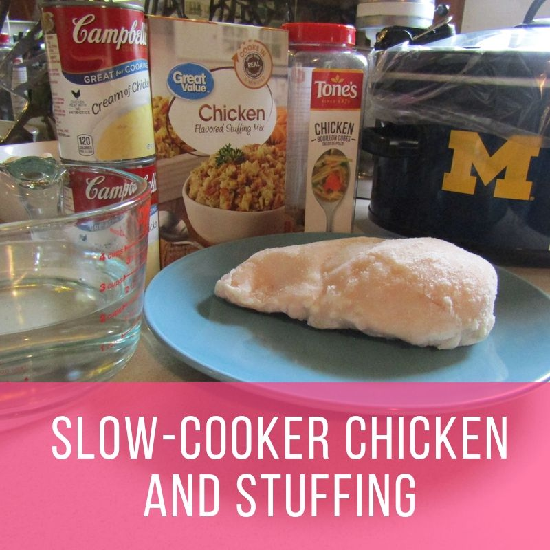 slow-cooker chicken and stuffing