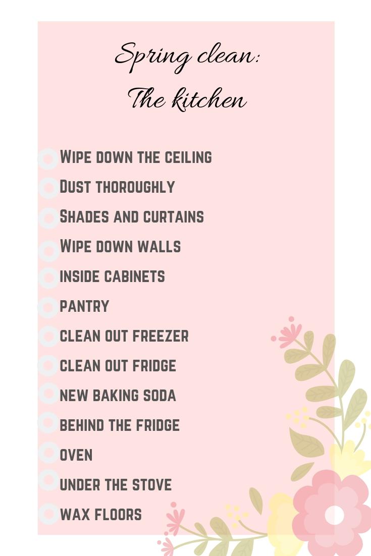 Spring clean kitchen